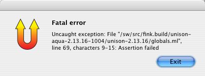 Assertion failed