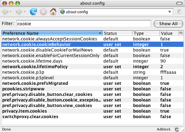 network.cookie.cookieBehavior User Set 1