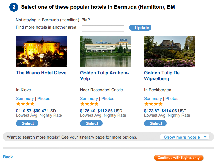 Select one of these popular Dutch Hotels in Bermuda